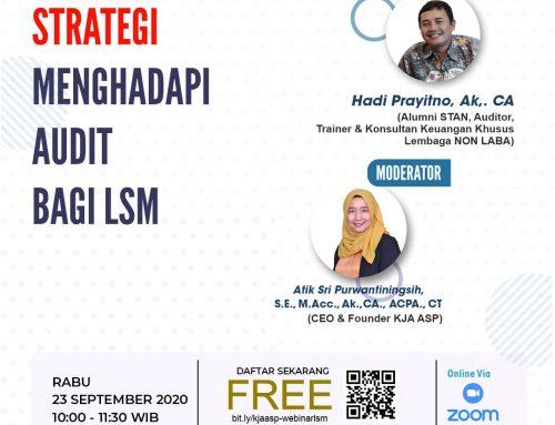 Webinar Strategi Menghadapi Audit Bagi LSM